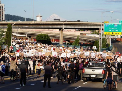 Protesters March On Portland For Sixth Night