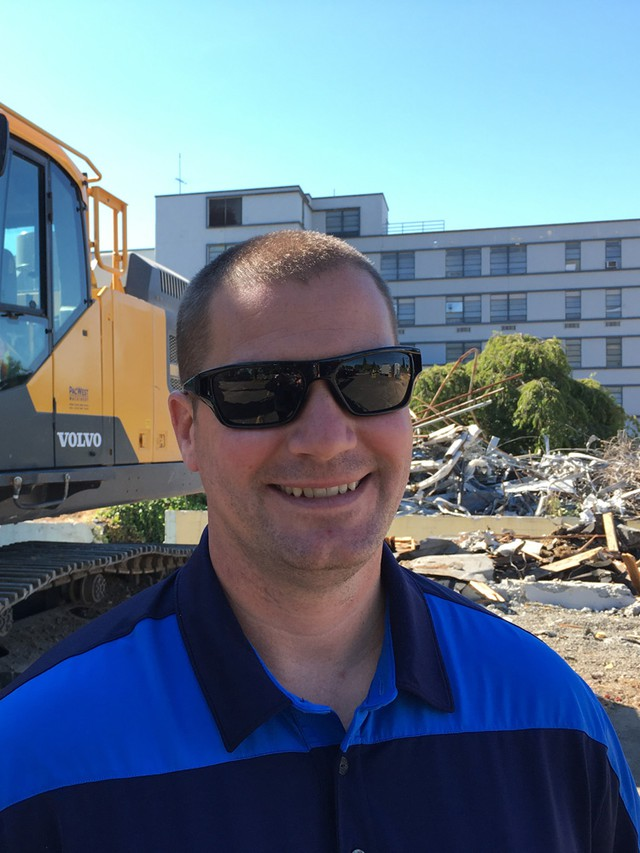 Demian Hinkle is the lead project estimator for Dickson Company, a demolition firm in Tacoma, Washington. He said demo on the tunnel is likely doable, but could take hundreds of trucks and half a year to haul away.