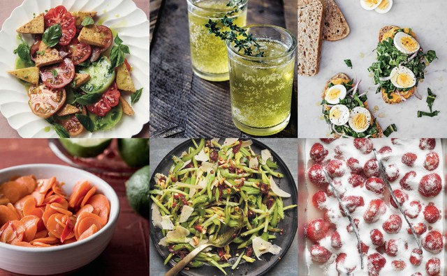 "Dishes from a half dozen new Pacific Northwest cookbooks (clockwise from top left): ""PNW Veg,"" ""Dishing Up the Dirt,"" ""The Book of Greens,"" ""Candy Is Magic,"" ""Six Seasons: A New Way with Vegetables"" and ""Fiery Ferments."""