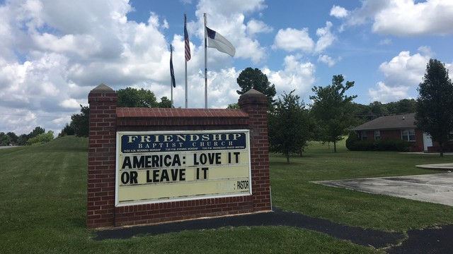 In Virginia, 2 Churches Feel The Aftermath Of Trump's Racist