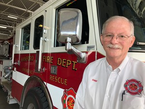 Norb Kuhman, the chief of the Hanford Fire Department, says this is will be a more challenging fire season than usual because of the dramatic growth of grass and brush from a wet winter.