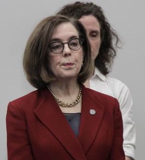 """""""Coronavirus is in our community. We should be prepared for thousands of cases in Oregon,"""" Gov. Kate Brown said at a briefing on the coronavirus."""
