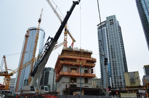 Yet another building's going up in Seattle's South Lake Union neighborhood.