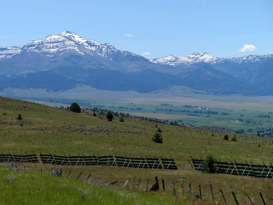 The Strawberry Mountains are a prominent feature in Grant County, Oregon.