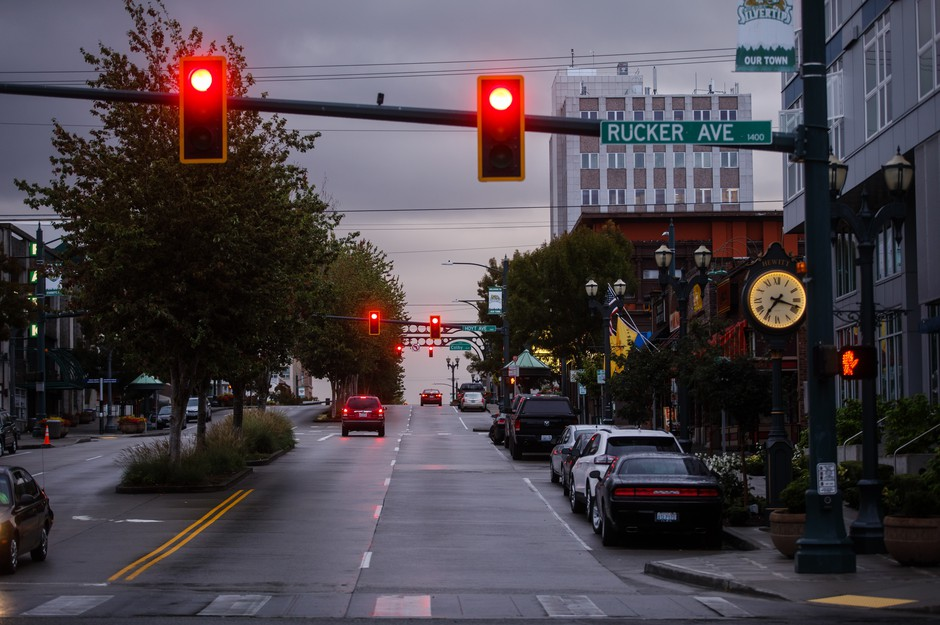 Downtown Everett, Wash., the seat of Snohomish County. The county has declared opioid epidemic a life-threatening emergency and the county is now responding to the drug crisis as if it were a natural disaster.