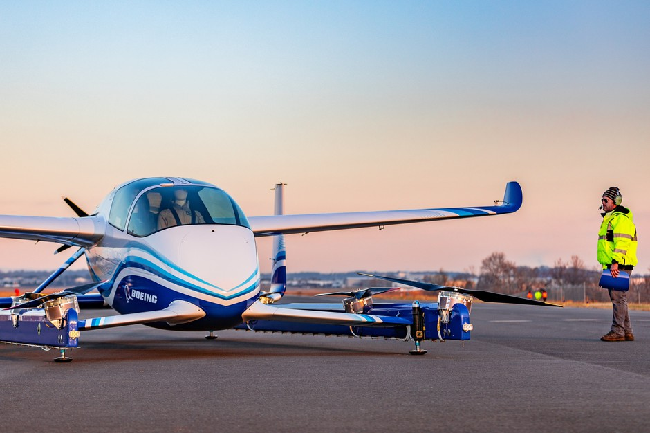 The two-seat Passenger Air Vehicle is an eVTOL (electric vertical takeoff and landing) aircraft or air taxi.