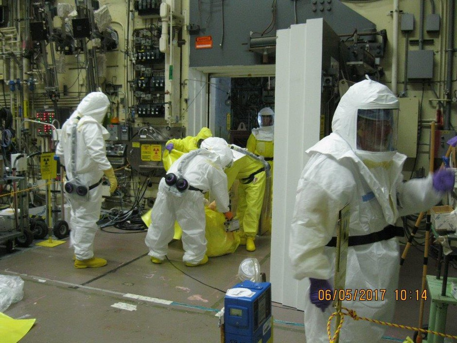 This photo provided by Hanford officials shows the area where the contamination occurred.
