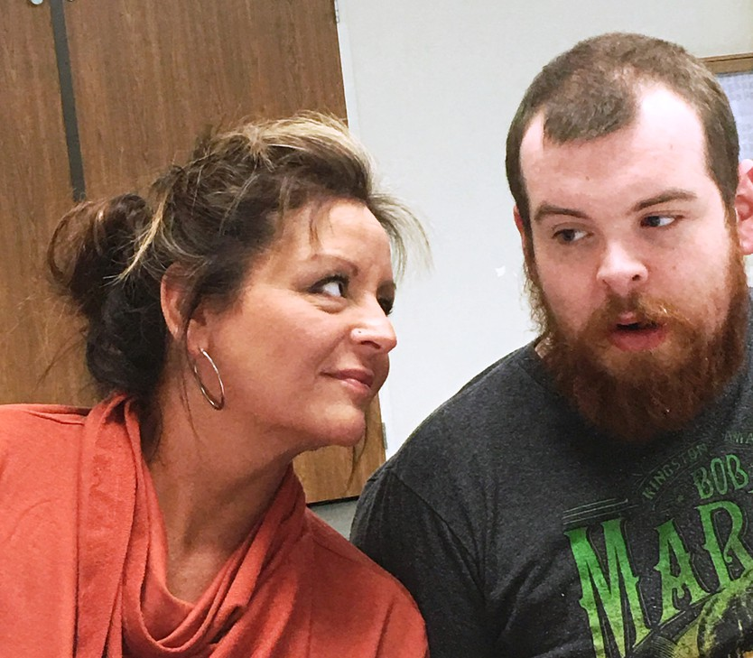 Tammie Corter with her son Tyler Groseclose who is severely autistic and non-verbal and a current client of Aacres Washington in Spokane.