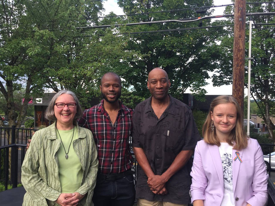 Cathy Wood Wyrick, Cameron Whitten, Art Alexander and Eva Jones talked about activism across generations on Think Out Loud.