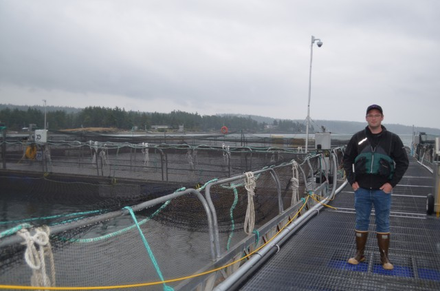 Tom Glaspie is the site manager of Cooke Aquaculture's Hope Island Fish Farm.