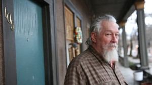 Larry Dessommes, a retired philosophy teacher, has lived at the Fairmount in Northwest Portland for five years.