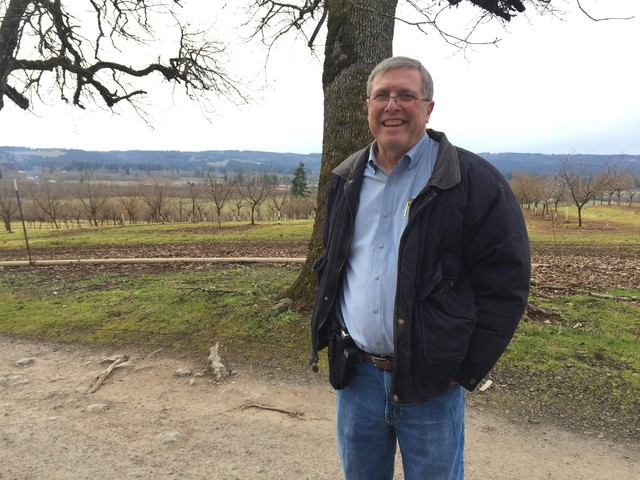 Rich Vial, former Republican lawmaker and deputy secretary of state, near his home in 2018.