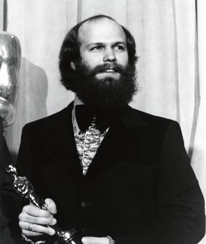 """Will Vinton holding his Oscar for """"Closed Mondays."""""""