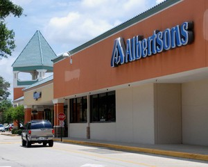 An Albertsons grocery store.