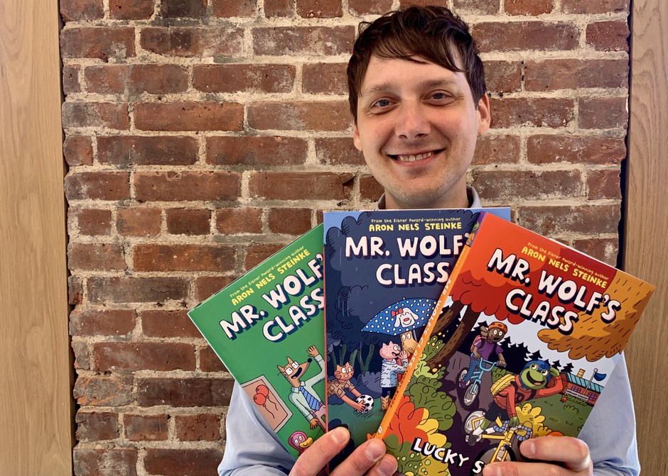 "Portland elementary school teacher Aron Nels Steinke is the author of the ""Mr Wolf's Class"" graphic novel series for kids."