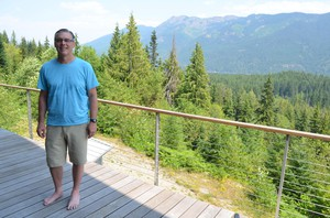 Jay Schwartz owns a cabin near Kachess Lake in the Washington Cascades. He wants to keep the lake as it is for his family and others toenjoy. CREDIT: ELIS O'NEIL KUOW/EARTHFIX