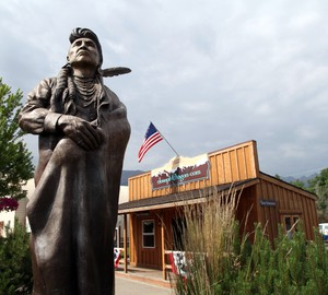 The Chief Joseph statue on Main Street