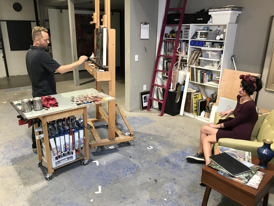 Gabriel Lipper teaches classes and workshops at his studio in Ashland.