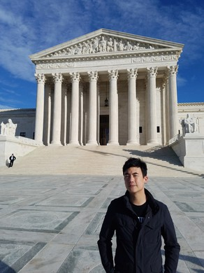 Bandleader Simon Tam, in Washington D.C. for oral arguments.