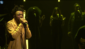 """Screenshot of Portland hip-hop artist Aminé as he performed on """"The Tonight Show with Jimmy Fallon"""" on Nov. 15, 2016."""