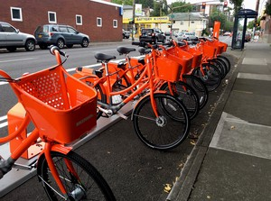 Portland's BIKETOWN bike rental program is being hailed as the first-of-its-kind. The bikes feature built-in smart technology which allows the rider to pay, reserve and check in the bikes through an LED screen on the bike, instead of interacting with a hub.