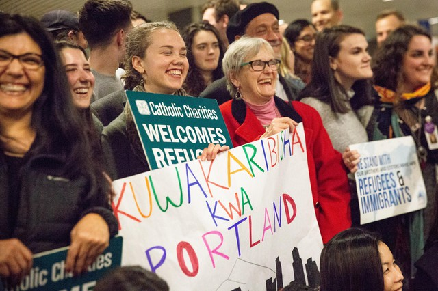 """We definitely have a long history as a state of welcoming refugees and helping them rebuild their lives and make their homes here,"" Matthew Westerbeck, of the resettlement group Catholic Charities, said of Oregon."