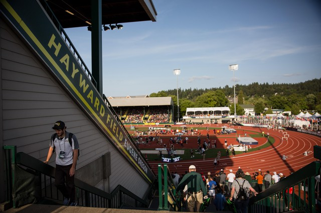"The University of Oregon has said Hayward's East Grandstand has ""critical structural challenges."" The structure is almost 100 years old."