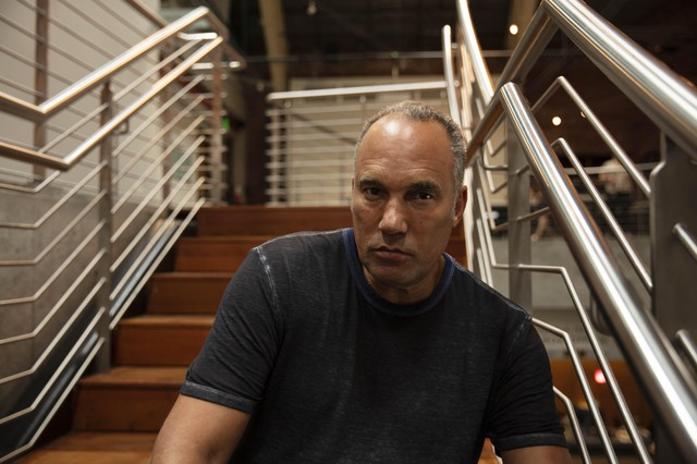 "Artist Roger Guenveur Smith at the 2019 JAW: A Playwrights Festival, where he workshopped his play ""Otto Frank."""
