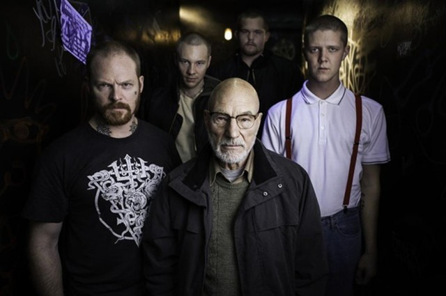 """Patrick Stewart plays a neo-Nazi villain in """"Green Room,"""" the new horror thriller about a punk rock band filmed in Oregon."""