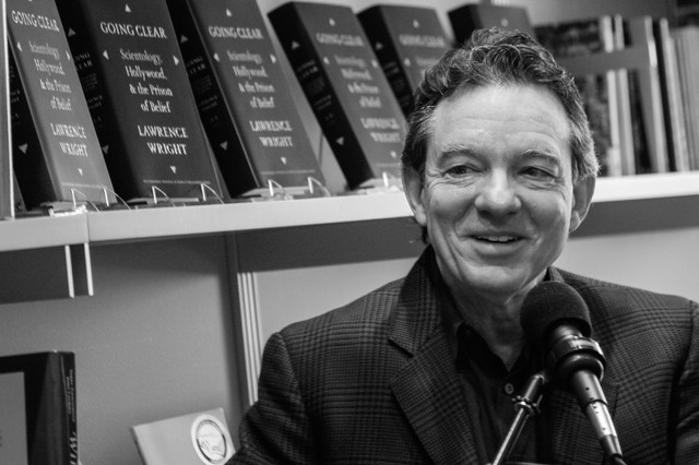 Lawrence Wright discusses his new book Going Clear: Scientology, Hollywood, & the Prison of Belief at Literary Arts in Portland, 2014.