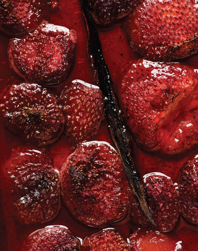 Roasting strawberries and other fruit intensifies flavor, reduces water content and yields a silky-smooth purée. But quality frozen fruit is a great stand-in for fresh, especially to satisfy off-season cravings.