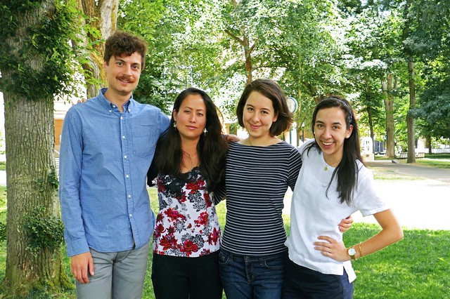The filmmaker and three of her subjects (left to right): Richard Hajarizadeh, Ai McGrew-Sakamoto, Sarah Donaldson and Andréa Franke.