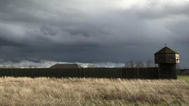 Stormy skies over Fort Vancouver