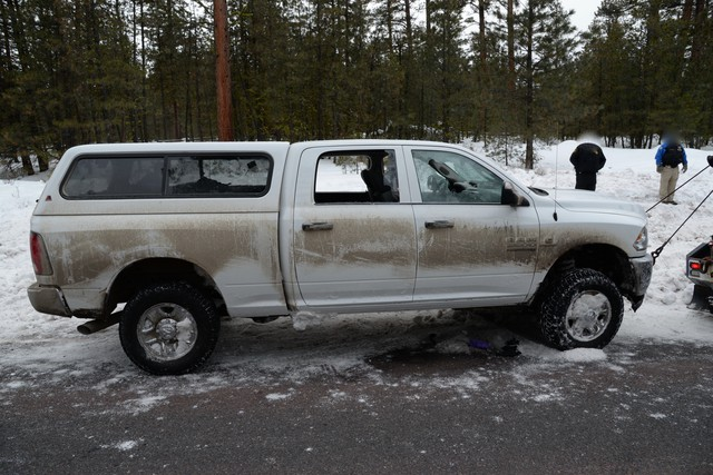 "The vehicle driven by militant leader Robert ""LaVoy"" Finicum. The Central Oregon Major Incident Team released photos of evidence from Finicum's Jan. 26 killing."