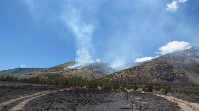 View of Ana Fire on July 10.
