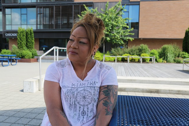 "Rachel Macy witnessed the knife attack on a Portland MAX train. ""Every time I have to take public transportation, just walking down the street, I realize I don't want to be noticed."""
