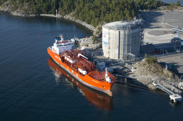 A LNG terminal in Sweden.  Jordan Cove is planning a similar facility in Coos Bay, Oregon.