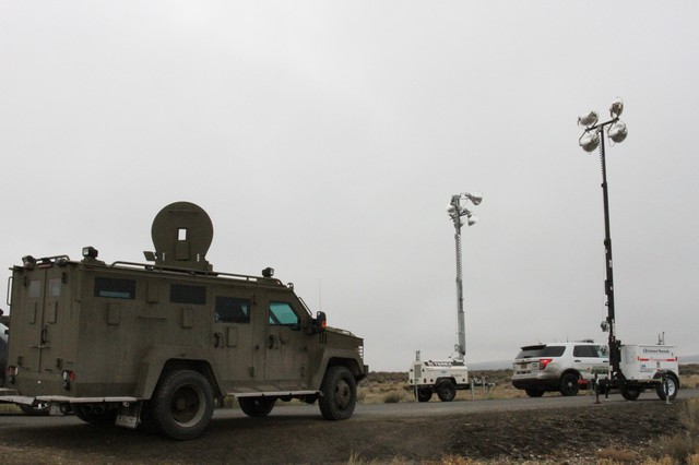 The FBI briefly opened parts of the Malheur National Wildlife Refuge to media access the day after the final four occupiers surrendered to authorities.