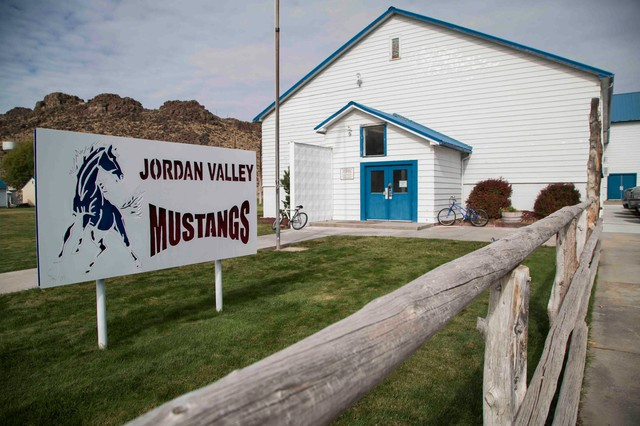 Jordan Valley School District has 81 students. Many are from ranching families, and they bus into school from up to 30 miles away.