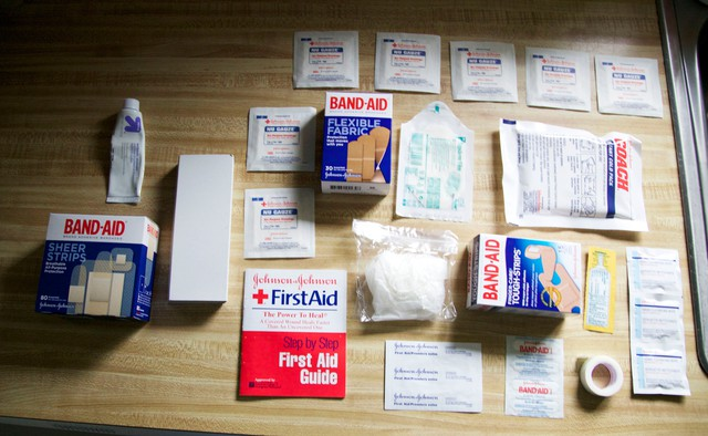 The Johnson Family's first aid kit.