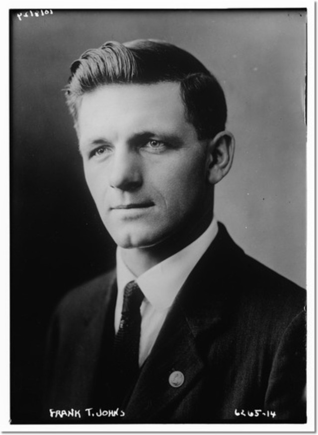 Frank T. Johns in a 1928 press photo.
