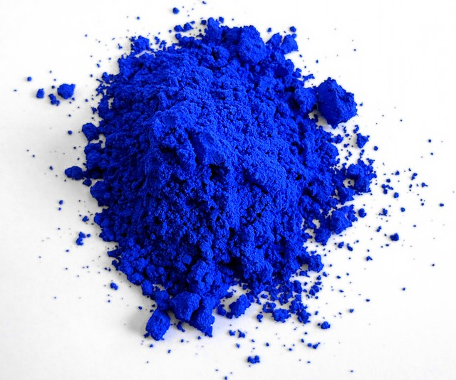 A sample of YInMn blue, the new pigment created at Oregon State University.