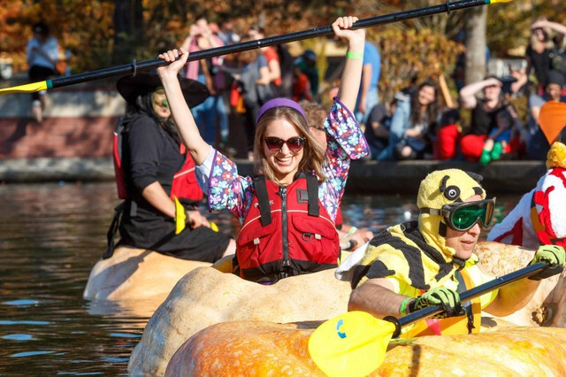 Tualatin's Pumpkin Regatta has been an annual tradition since 2004. Besides boat races in giant pumpkins, the festival includes costume contests, pumpkin golf and clownshows.
