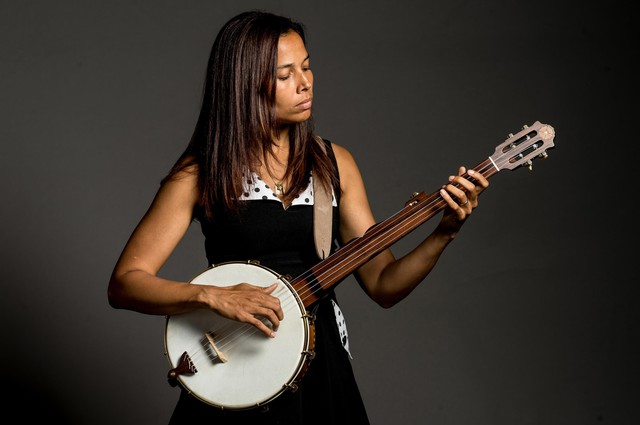 """Iconoclastic string player and composer Rhiannon Giddens revived African-American folk music traditions with her band, the Carolina Chocolate Drops. She hosts the """"Aria Code"""" podcast, a co-production of WQXR, WNYC, and the Metropolitan Opera."""
