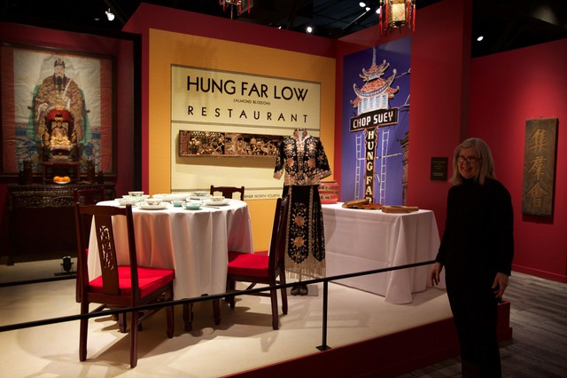 The museum has several dioramas that build a picture of a Chinatown restaurant, laundry and lottery.