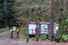 Trailhead at Bagby Hot Springs.