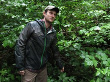 Matt Wagoner of the Forest Park Conservancy points out a stink currant during a hike along Wildwood Trail.