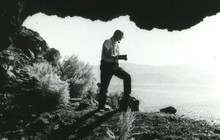 Luther Cressman at Fort Rock Cave.