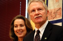 Cylvia Hayes joined Governor Kitzhaber at Earl Boyles Elementary School in December to announce his bid for reelection.