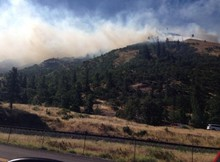 Picture from Twitter of Rowena fire.